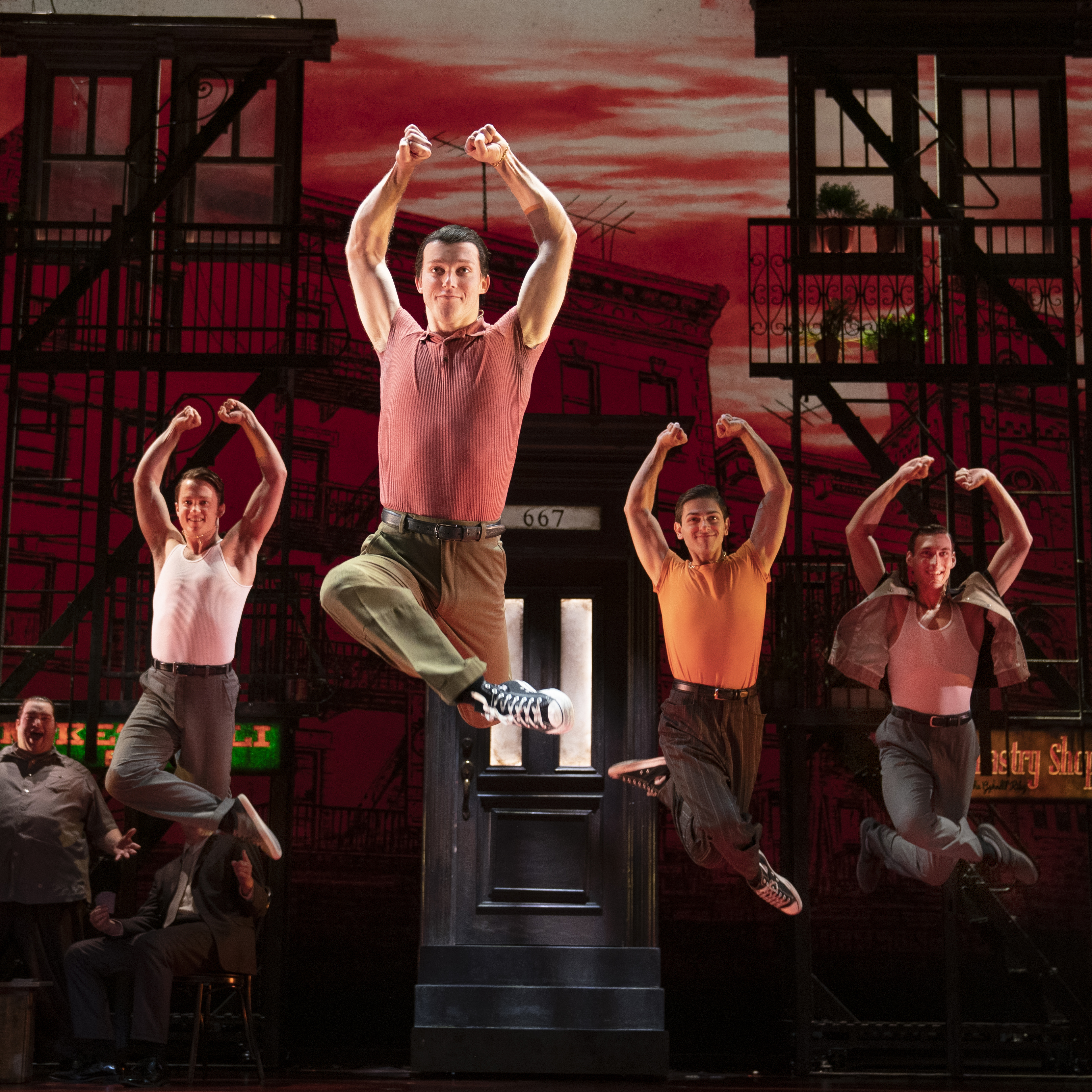 The Company of A BRONX TALE. Photo by Joan Marcus