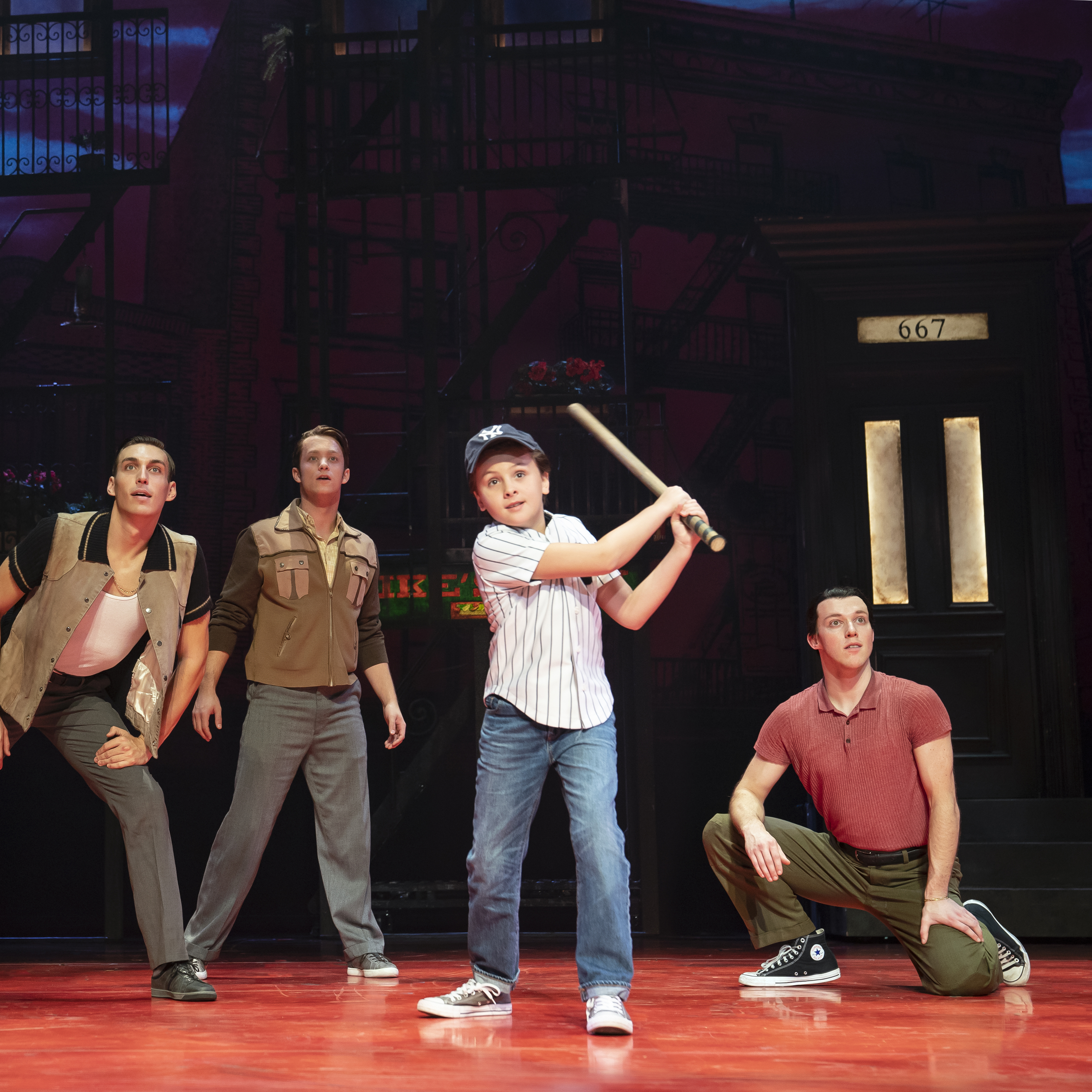 Cast of A BRONX TALE. Photo by Joan Marcus